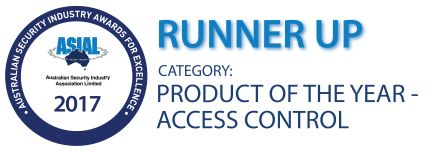 ASIAL runners up award for Access Control product of the year