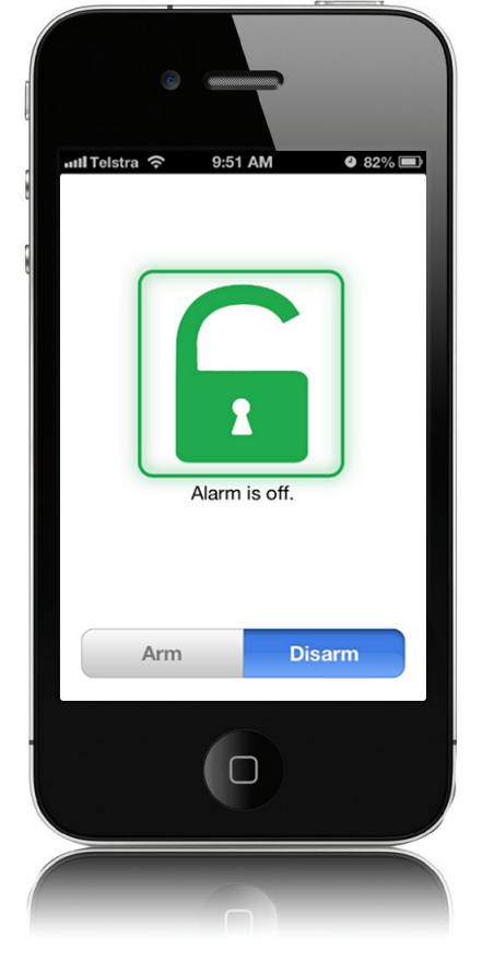 pocket secure app for alarm monitoring