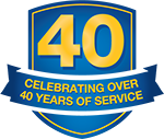 Celebrating over 40 years of service.